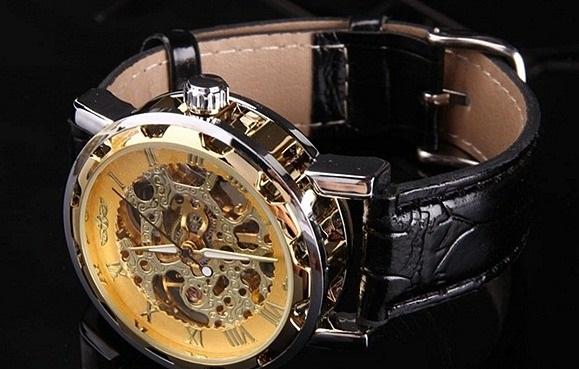 6ca3f7be Купить Часы-скелетоны BY-Winner Skeleton-Gold