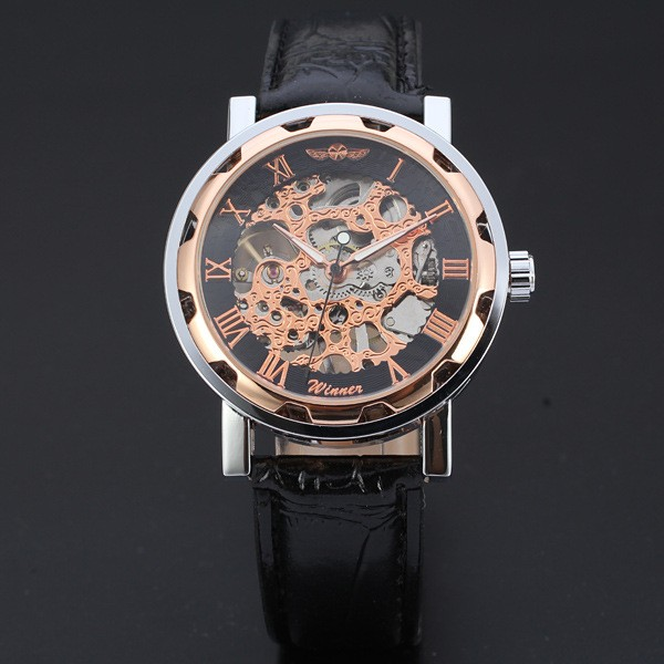 Купить Часы-скелетоны Winner Skeleton-Bronze bef0c81910634
